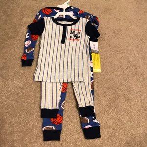 Baby Boy Sports Pajamas-2pack